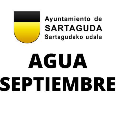 Agua Septiembre 2019